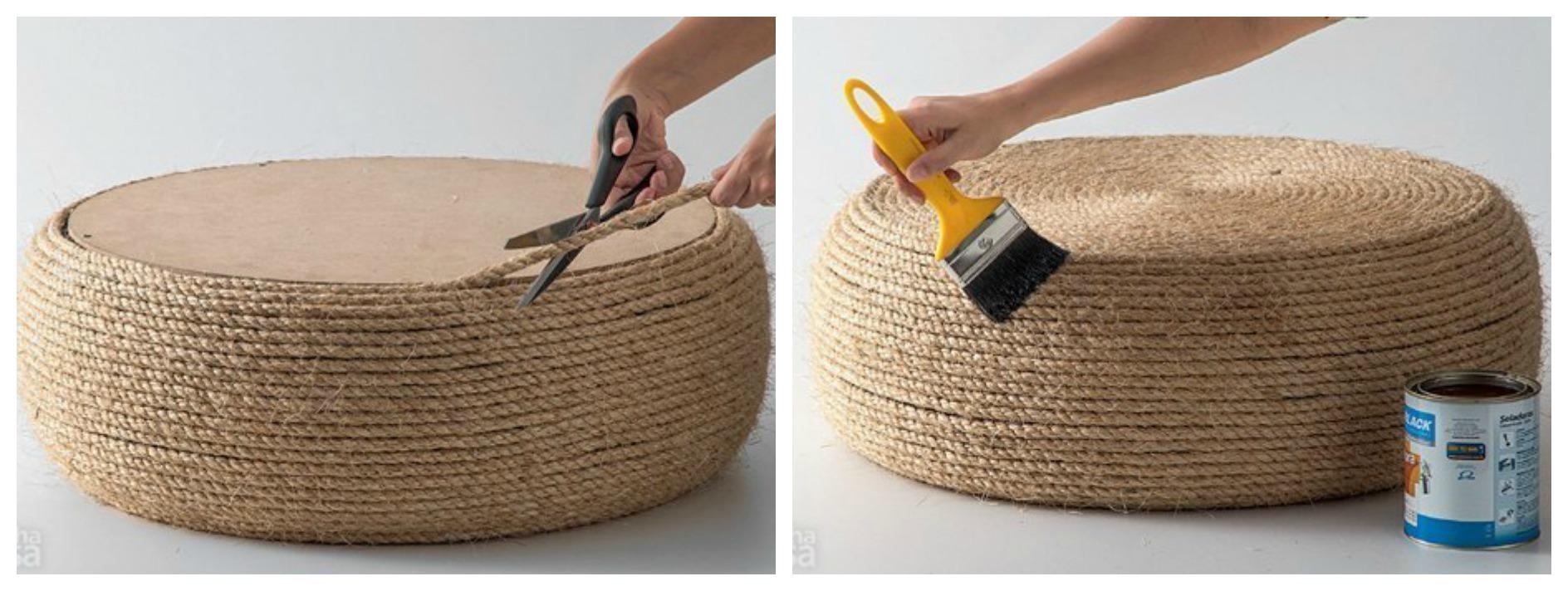 Как сделать когтеточку своими руками из веревки